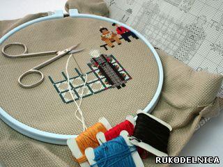 Подготовка к вышивке крестом 67